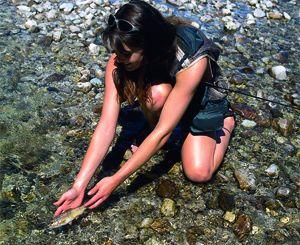 Fliegenfischen mit extrem leichter Schnurklasse